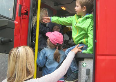 Jedes Kind will im Feuerwehrauto sitzen