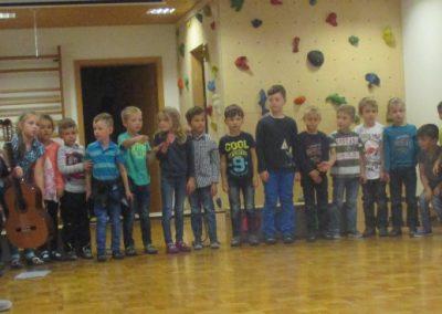 Vorschüler singen Abschiedslied
