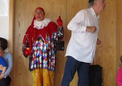Clown und Zirkusdirektor