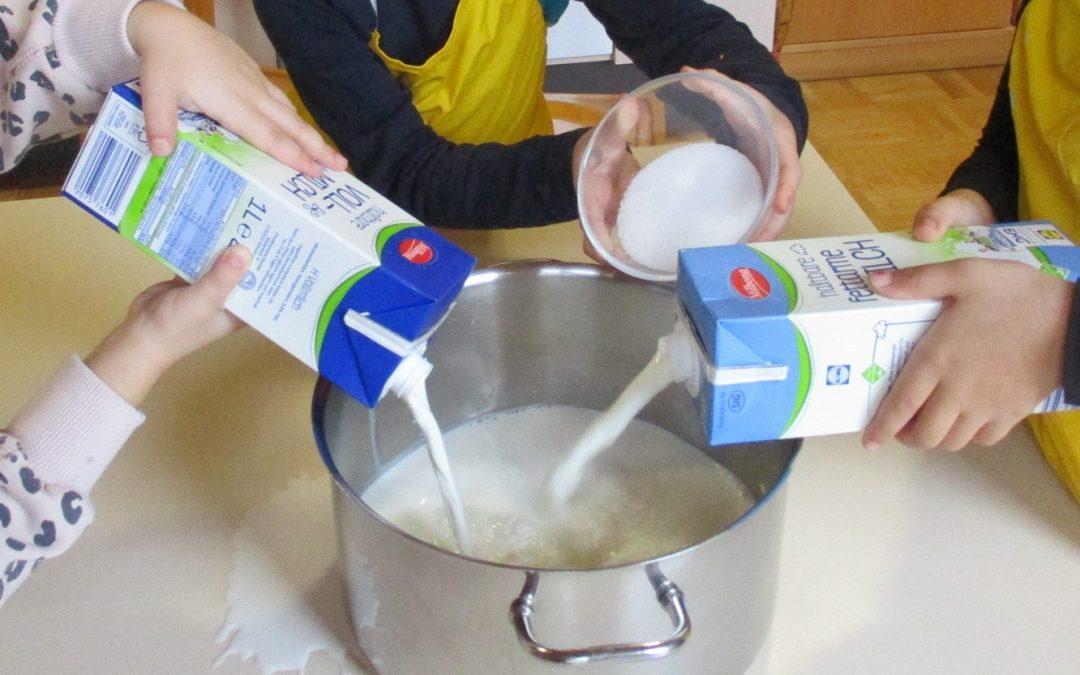 Wir kochen Milchreis
